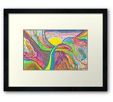 Pablo's Miraculous Sunrise  Framed Print