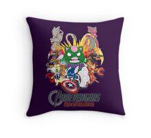 Pokevengers: Age of Mewtron Throw Pillow