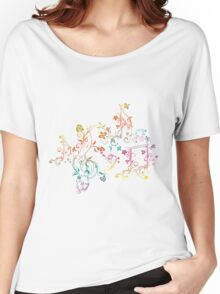 Floral Music Notes 2 Women's Relaxed Fit T-Shirt