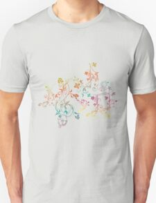 Floral Music Notes 2 Unisex T-Shirt
