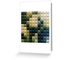 Castleton Green Abstract Low Polygon Background Greeting Card
