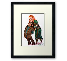 Kili and Tauriel Framed Print