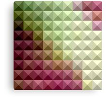 Deep Mauve Purple And Green Abstract Low Polygon Background Canvas Print