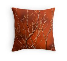 Organic Orange, Sticky Orange Pillow Throw Pillow