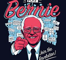 Bernie Sanders Revolution black by Brian Crim