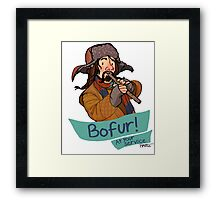 Bofur at Your Service Framed Print