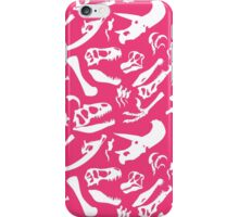 Dinosaur Bones (Pink) iPhone Case/Skin