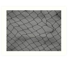 Fence Snow Art Print