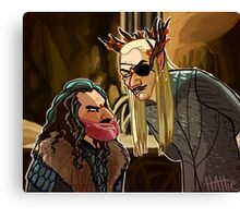 Meatbeard and Pirate Elf Canvas Print