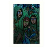 Mirkwood Elves Art Print