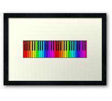 Rainbow Piano Keyboard  Framed Print