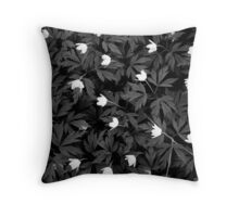Wood Anemones Throw Pillow