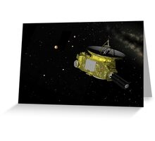 Approaching the Pluto System Greeting Card