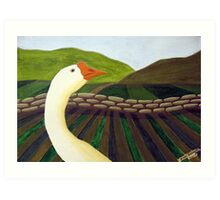 310 - THE LONE GOOSE - DAVE EDWARDS - ACRYLIC - 2010 Art Print