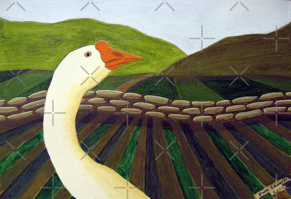 310 - THE LONE GOOSE - DAVE EDWARDS - ACRYLIC - 2010 by BLYTHART
