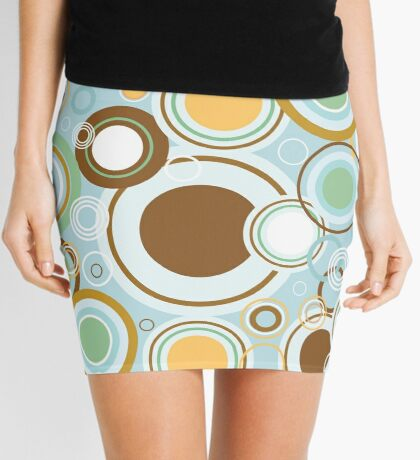 Retro Cirles Mini Skirt