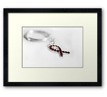 breast cancer awareness key chain Framed Print