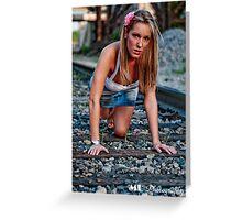 Hidden Kirsten, Crouching Tiger  Greeting Card