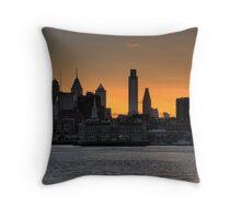 Philadelphia Sunset Throw Pillow