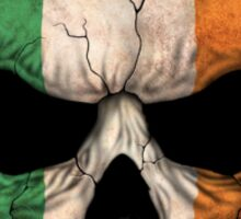 Irish Flag Skull Sticker