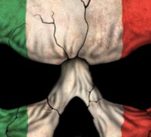 Italian Flag Skull Sticker
