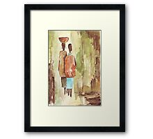 Where Creation keeps its own slow time - Ethnic series Framed Print