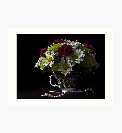 bouquet in a cup Art Print