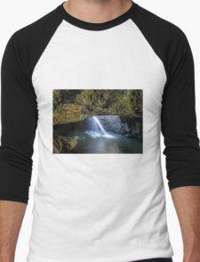 Natural Arch - Springbrook NP Qld Australia Men's Baseball ¾ T-Shirt