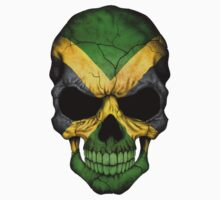 Jamaican Flag Skull by Jeff Bartels