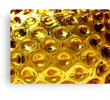 Yellow bubble coloured glass  Canvas Print