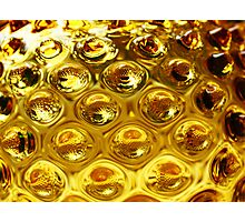 Yellow bubble coloured glass  Photographic Print