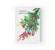 Christmas Holly Hardcover Journal