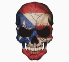 Puerto Rican Flag Skull by Jeff Bartels