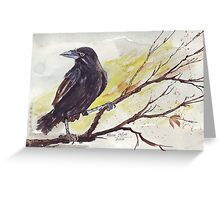 Crow on a bough Greeting Card