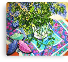 Leafy Still Life Canvas Print