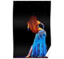 Bellydance in Blue, International Bellydance Congress, UK Poster