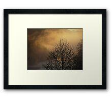Skagit River Fog Framed Print