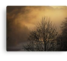 Skagit River Fog Canvas Print