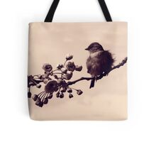 Flowered Finch Tote Bag
