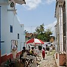 Market at Trinidad, Cuba by David Carton