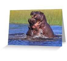 Hippo by the Throat Greeting Card