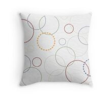 Circles on Paper Pattern Throw Pillow
