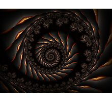 Black Spiral Fractal Photographic Print