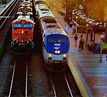 Fullerton, California Station by Stephen Burke