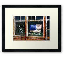 Gold Bless America Framed Print