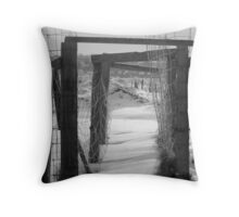 The Empty Corral Throw Pillow