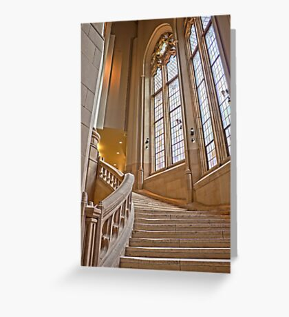 The Grand Staircase in the Suzzallo Library Greeting Card