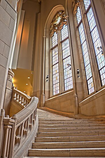 The Grand Staircase in the Suzzallo Library by Barb White