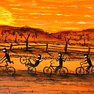 """Ned Kelly Gang Easy Riders"" Original Australian Acrylic Painting;  SOLD by EJCairns"
