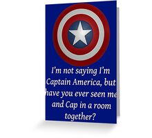 I Could Be Captain America - WT Greeting Card